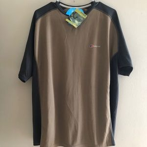 Berghaus XL Tan Gray S/S Activewear Casual Shirt
